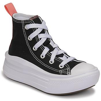 Cipők Lány Magas szárú edzőcipők Converse CHUCK TAYLOR ALL STAR MOVE CANVAS HI Fekete  / Rózsaszín