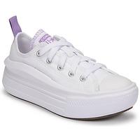 Cipők Lány Rövid szárú edzőcipők Converse CHUCK TAYLOR ALL STAR MOVE CANVAS OX Fehér / Rózsaszín