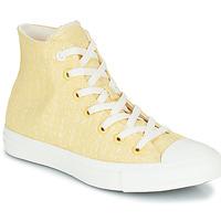 Cipők Női Magas szárú edzőcipők Converse CHUCK TAYLOR ALL STAR HYBRID TEXTURE HI Citromsárga