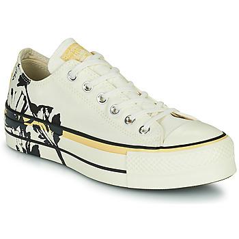 Cipők Női Rövid szárú edzőcipők Converse CHUCK TAYLOR ALL STAR LIFT HYBRID FLORAL OX Fehér