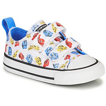 Cipők Gyerek Rövid szárú edzőcipők Converse CHUCK TAYLOR ALL STAR 2V DINO DAZE OX Fehér / Zöld / Narancssárga