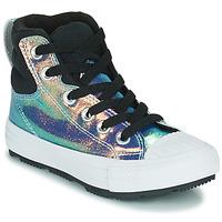 Cipők Lány Magas szárú edzőcipők Converse CHUCK TAYLOR ALL STAR BERKSHIRE BOOT IRIDESCENT LEATHER HI Fekete  / Fényes