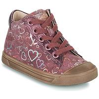 Cipők Lány Magas szárú edzőcipők Acebo's 5533EL-GRANADA Rózsaszín