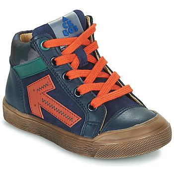 Cipők Fiú Magas szárú edzőcipők Acebo's 5567-MARINO-J Tengerész