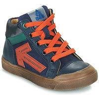 Cipők Fiú Magas szárú edzőcipők Acebo's 5567-MARINO-I Tengerész