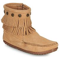 Cipők Női Csizmák Minnetonka DOUBLE FRINGE SIDE ZIP BOOT Barna