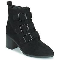 Cipők Női Bokacsizmák Moony Mood PAOLA Fekete