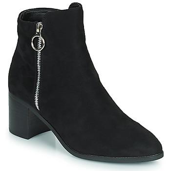 Cipők Női Városi csizmák Moony Mood PETROLIA Fekete