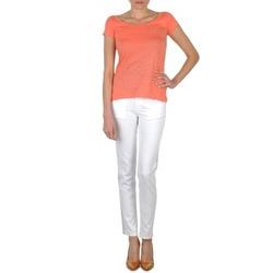 Ruhák Női Slim farmerek Calvin Klein Jeans JEAN BLANC BORDURE ARGENTEE Fehér