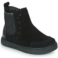 Cipők Lány Csizmák Mod'8 BLANOU Fekete  / Fényes