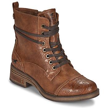 Cipők Női Csizmák Mustang 1293501 Barna