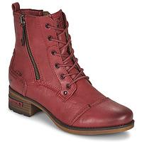 Cipők Női Csizmák Mustang 1229513 Piros