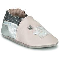 Cipők Lány Baba mamuszok Robeez CAT FRIENDS Rózsaszín / Ezüst