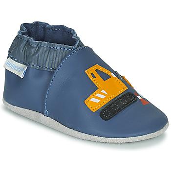 Cipők Fiú Baba mamuszok Robeez YARD ROAD Kék / Citromsárga
