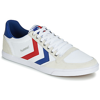 Cipők Férfi Rövid szárú edzőcipők Hummel TEN STAR LOW CANVAS Fehér / Piros / Kék