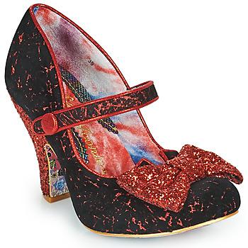 Cipők Női Félcipők Irregular Choice FANCY THAT Fekete  / Piros