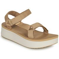 Cipők Női Szandálok / Saruk Teva Flatform Universal Bézs / Fehér