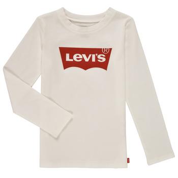 Ruhák Lány Hosszú ujjú pólók Levi's LS BATWING TEE Fehér