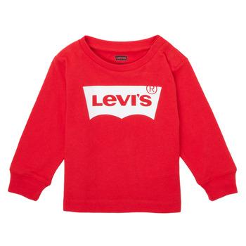 Ruhák Fiú Hosszú ujjú pólók Levi's L/S BATWING TEE Piros