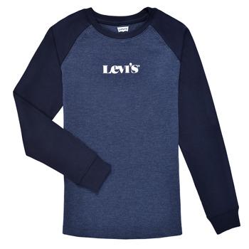 Ruhák Fiú Hosszú ujjú pólók Levi's LONG SLV WAFFLE TEE SHIRT Tengerész
