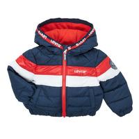 Ruhák Fiú Steppelt kabátok Levi's COLORBLOCK JACKET Tengerész / Fehér / Piros