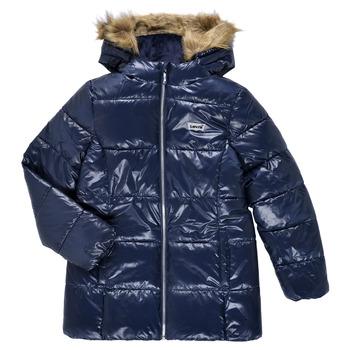 Ruhák Lány Steppelt kabátok Levi's FUR PUFFER Tengerész