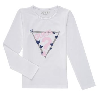 Ruhák Lány Hosszú ujjú pólók Guess MONICA Fehér