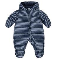 Ruhák Fiú Steppelt kabátok Petit Bateau TECHA Kék / Fehér