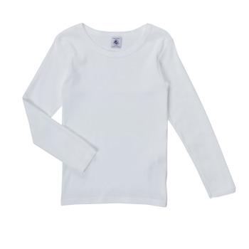 Ruhák Lány Hosszú ujjú pólók Petit Bateau FATRE Fehér