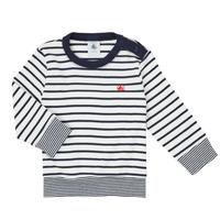 Ruhák Fiú Hosszú ujjú pólók Petit Bateau IGRAE Fehér / Kék