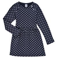 Ruhák Lány Rövid ruhák Petit Bateau KARREMA Kék / Fehér