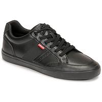 Cipők Férfi Rövid szárú edzőcipők Levi's TURNER 2.0 Fekete