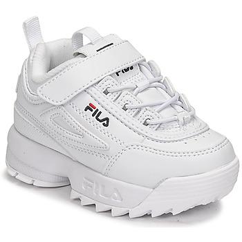 Cipők Gyerek Rövid szárú edzőcipők Fila DISRUPTOR INFANTS Fehér