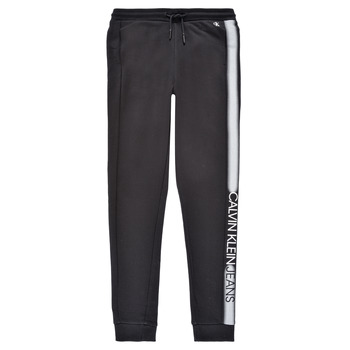 Ruhák Fiú Futónadrágok / Melegítők Calvin Klein Jeans RESPIRA Fekete