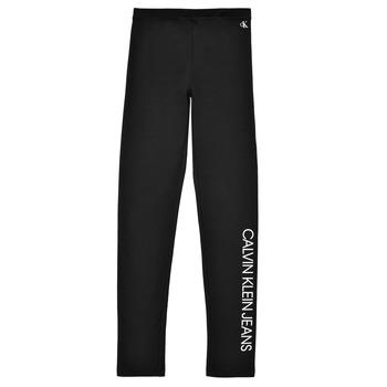 Ruhák Lány Legging-ek Calvin Klein Jeans MERCA Fekete
