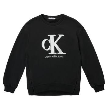 Ruhák Lány Pulóverek Calvin Klein Jeans POLLI Fekete