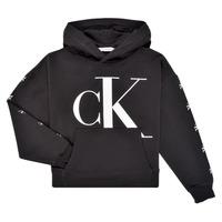 Ruhák Lány Pulóverek Calvin Klein Jeans SALOMA Fekete
