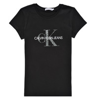 Ruhák Lány Rövid ujjú pólók Calvin Klein Jeans VOYAT Fekete