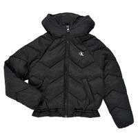 Ruhák Lány Steppelt kabátok Calvin Klein Jeans ZIETRA Fekete