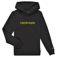 Ruhák Gyerek Pulóverek Calvin Klein Jeans ZOPLINA Fekete