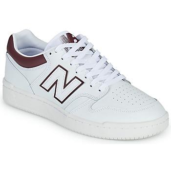 Cipők Férfi Rövid szárú edzőcipők New Balance 480 Fehér / Bordó