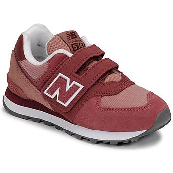 Cipők Lány Rövid szárú edzőcipők New Balance 574 Rózsaszín
