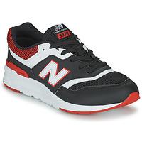 Cipők Fiú Rövid szárú edzőcipők New Balance 997 Fekete  / Piros