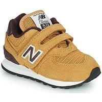 Cipők Fiú Rövid szárú edzőcipők New Balance 574 Barna