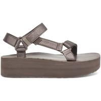 Cipők Női Szandálok / Saruk Teva Flatform Universal Leather Women's Metallic Bronze