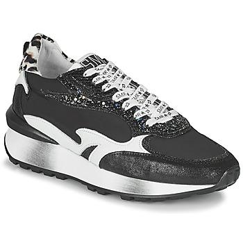 Cipők Női Rövid szárú edzőcipők Semerdjian MARI Fekete  / Fehér