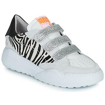 Cipők Női Rövid szárú edzőcipők Semerdjian OTTO Bézs / Fekete  / Ezüst