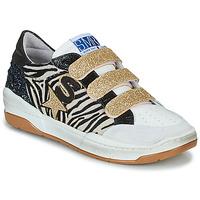 Cipők Női Rövid szárú edzőcipők Semerdjian GOETH Fekete  / Fehér / Arany