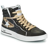 Cipők Női Magas szárú edzőcipők Semerdjian MARAL Fekete  / Arany