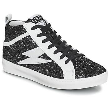 Cipők Női Magas szárú edzőcipők Semerdjian ALFA Fekete  / Fehér